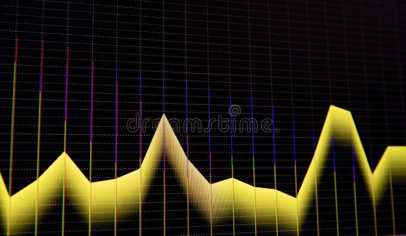 B?rsediagramm- und Balkendiagrammpreisanzeige Anzeige von den Zitaten, die f?r Preis Diagrammsichtbarmachung festsetzen Abstrakte lizenzfreie abbildung