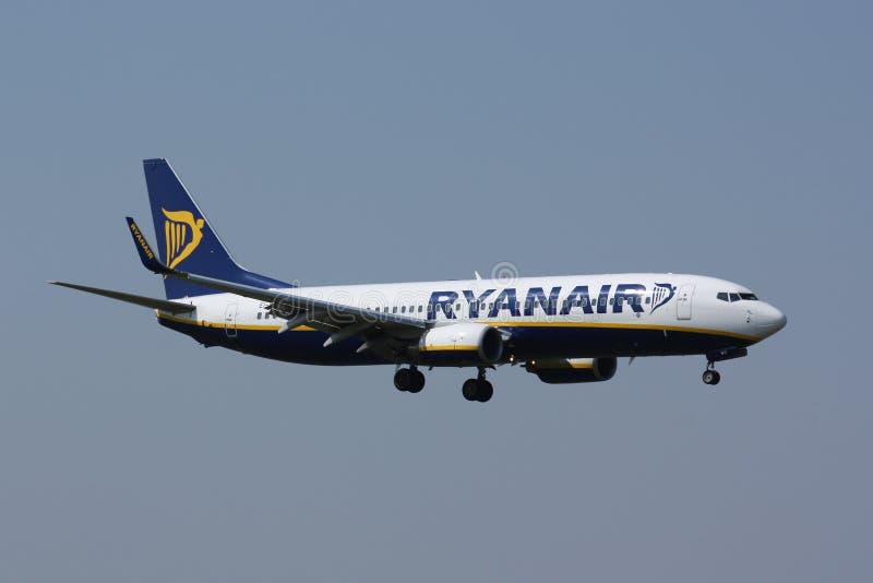 B737 Ryanair fotografia de stock