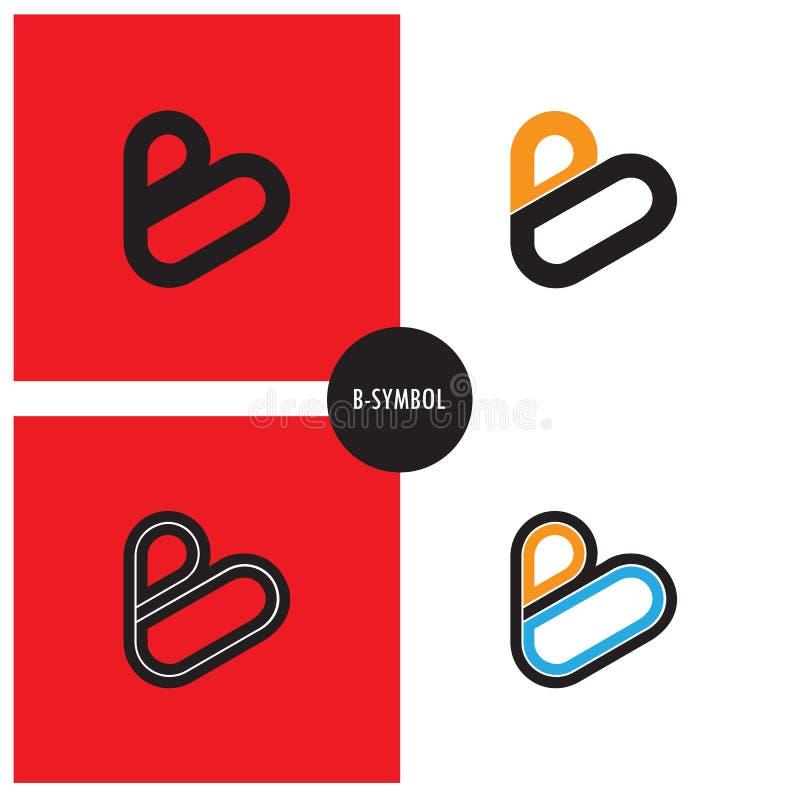 B- Símbolo de la compañía diseño abstracto del logotipo de la B-letra libre illustration