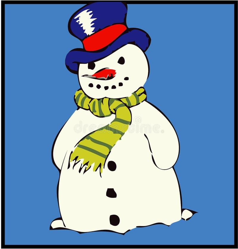 <b>Sneeuwman</b> royalty-vrije illustratie