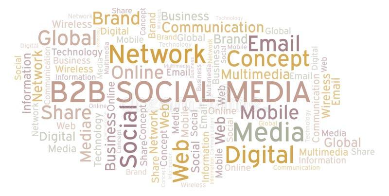 B2b Social Media word cloud vector illustration