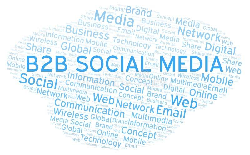 B2b Social Media word cloud stock illustration