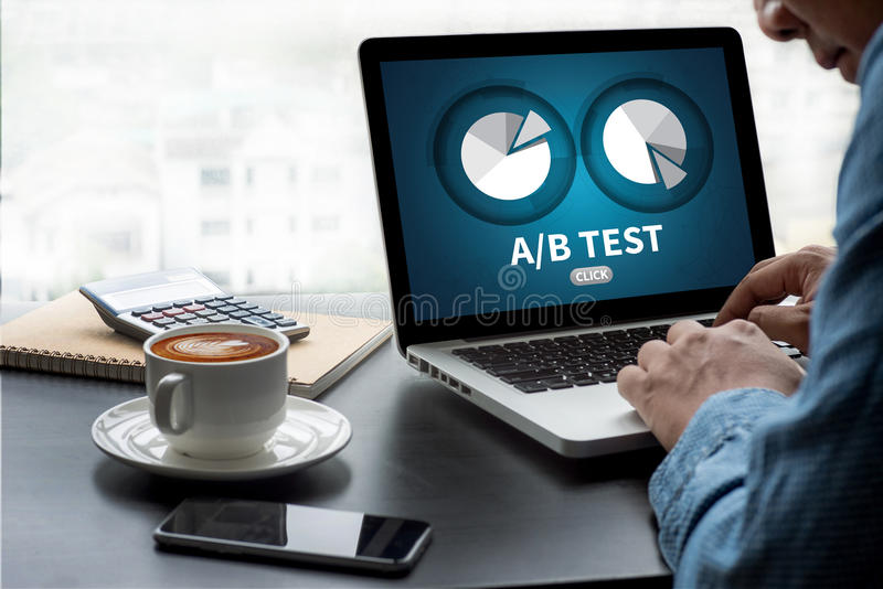 A/B test zdjęcia royalty free