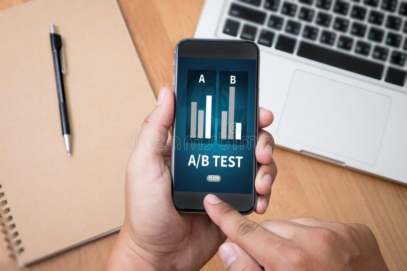 A/B test fotografia stock