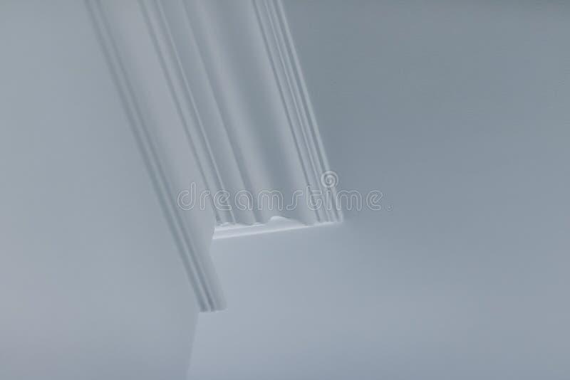 B?ti sur le d?tail de plafond, la conception int?rieure et le fond abstrait architectural photos stock