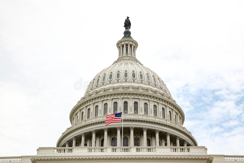 B?timent de capitol des Etats-Unis dans le Washington DC, Etats-Unis Le congr?s d'Etats-Unis images stock