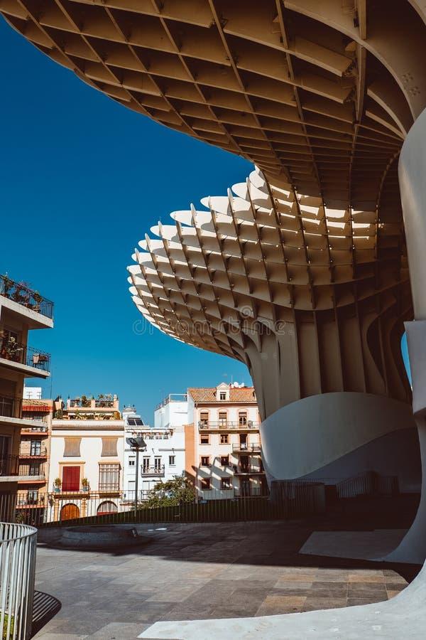 B?timent de parasol de parasol de Metropol conception en S?ville, Espagne de J Des architectes de J Architectes images stock