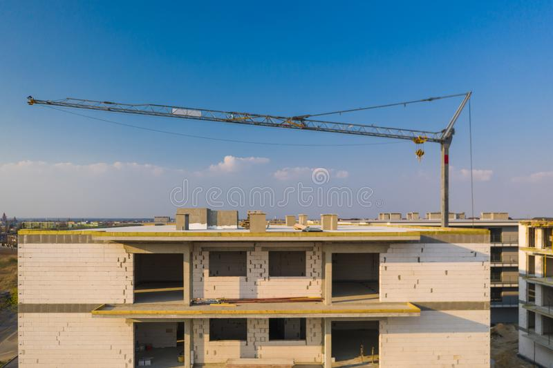 B?timent multifamilial en construction photos libres de droits