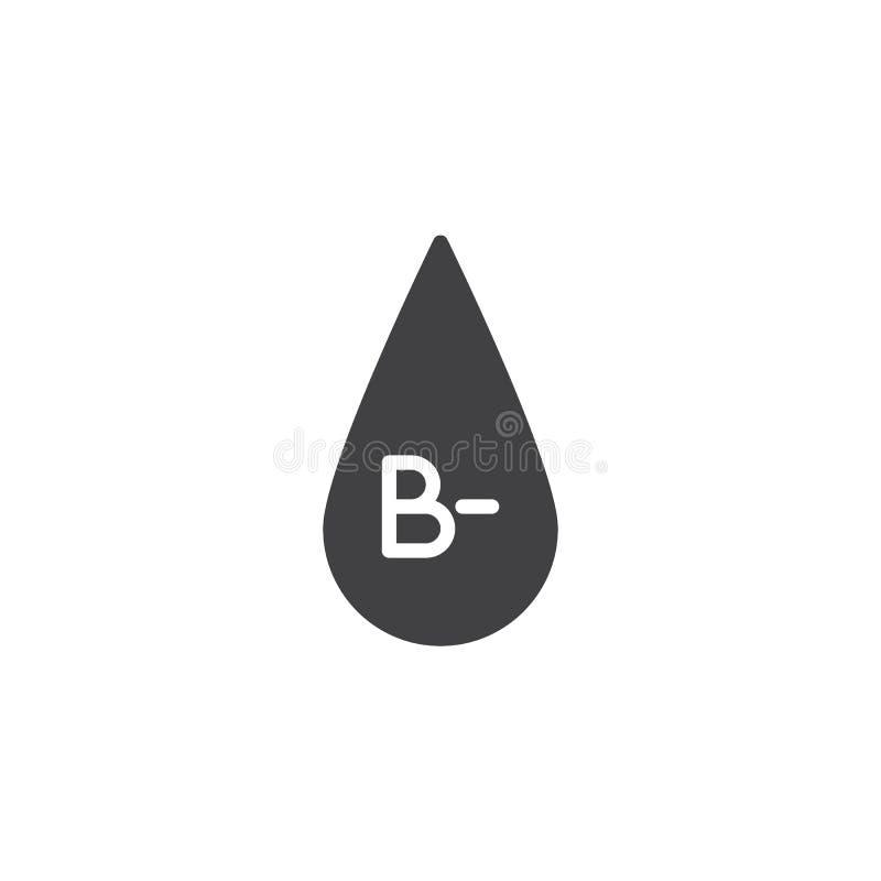 B- tipo de sangre icono del vector ilustración del vector
