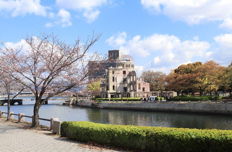 B?veda de la bomba at?mica, monumento de la paz de Hiroshima, Jap?n fotos de archivo libres de regalías