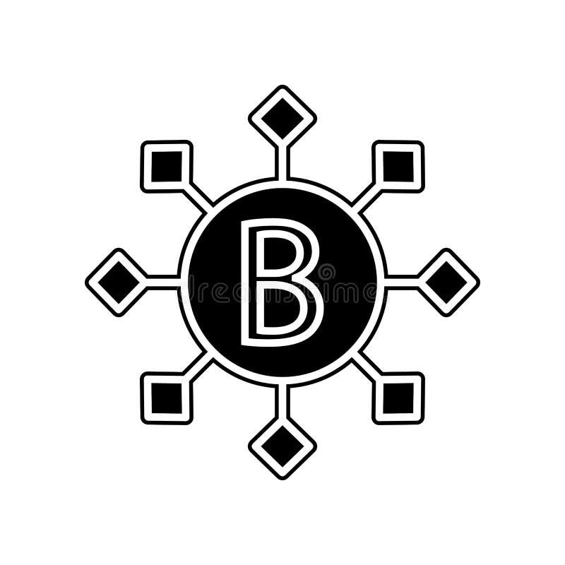 B vitaminenpictogram Element van bloeddonatie voor mobiel concept en webtoepassingenpictogram Glyph, vlak pictogram voor websiteo stock illustratie