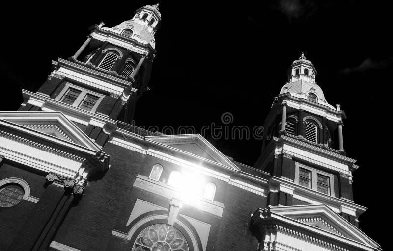 B&W καθεδρικός ναός στοκ εικόνες