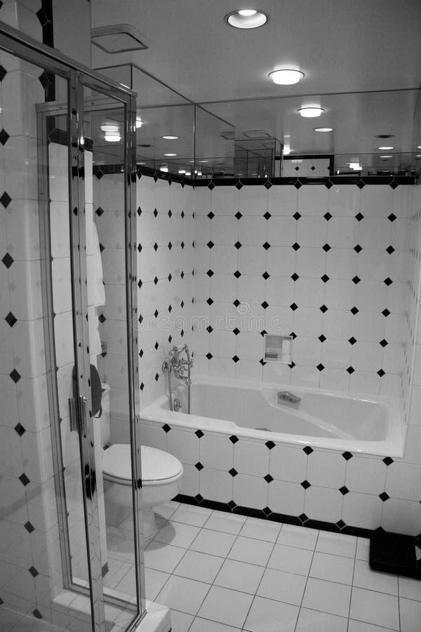 B&W Bathroom stock photography