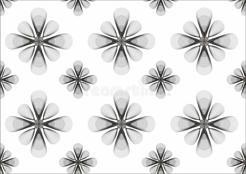B&W bloemachtergrond stock foto