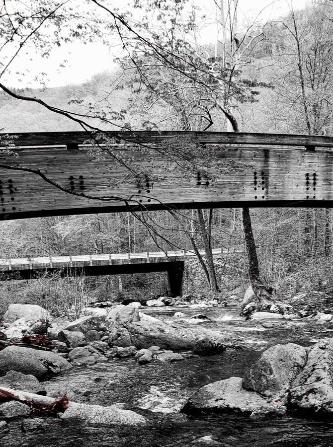 B&W Bridge to Somewhere royalty free stock images