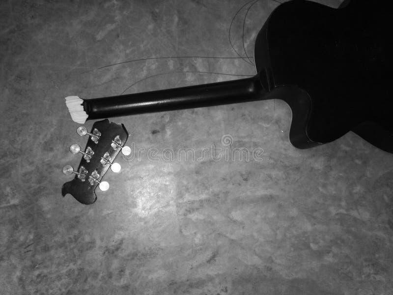 B&W gitara obrazy stock
