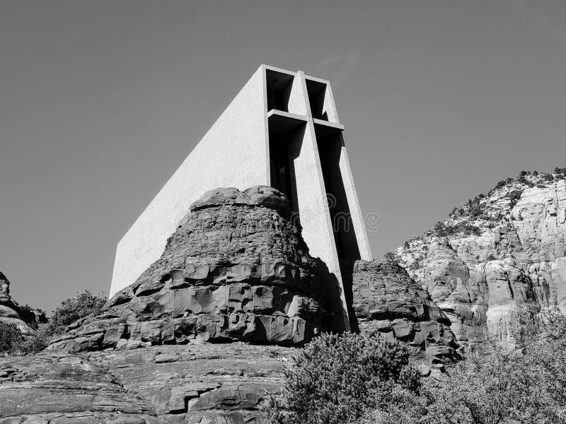 B&W-Kirche stockfoto