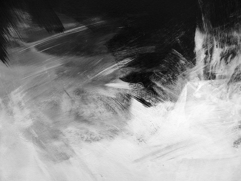 A B&W Paint Brushed Abstract royalty free stock images