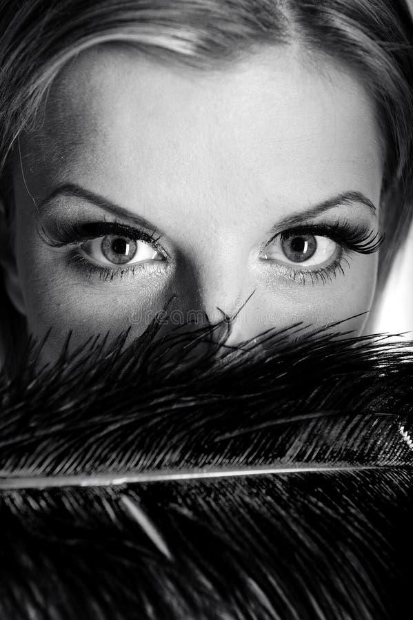 Free B/w Portrait Of Woman With Beautiful Eyes Stock Photo - 13987520