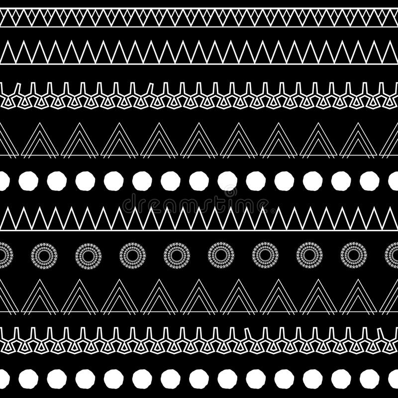 B&W stammen royalty-vrije illustratie