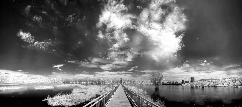 B&W-Träume am Adana_01 stockbild