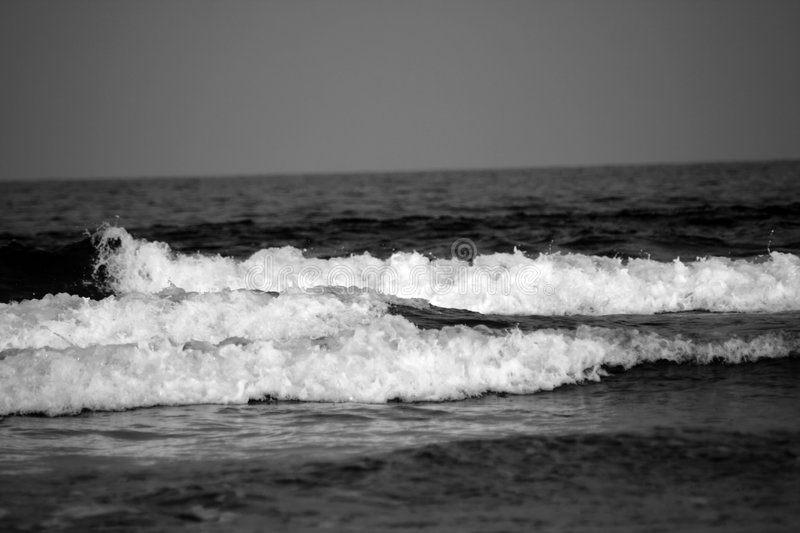 B/W Waves royalty free stock images