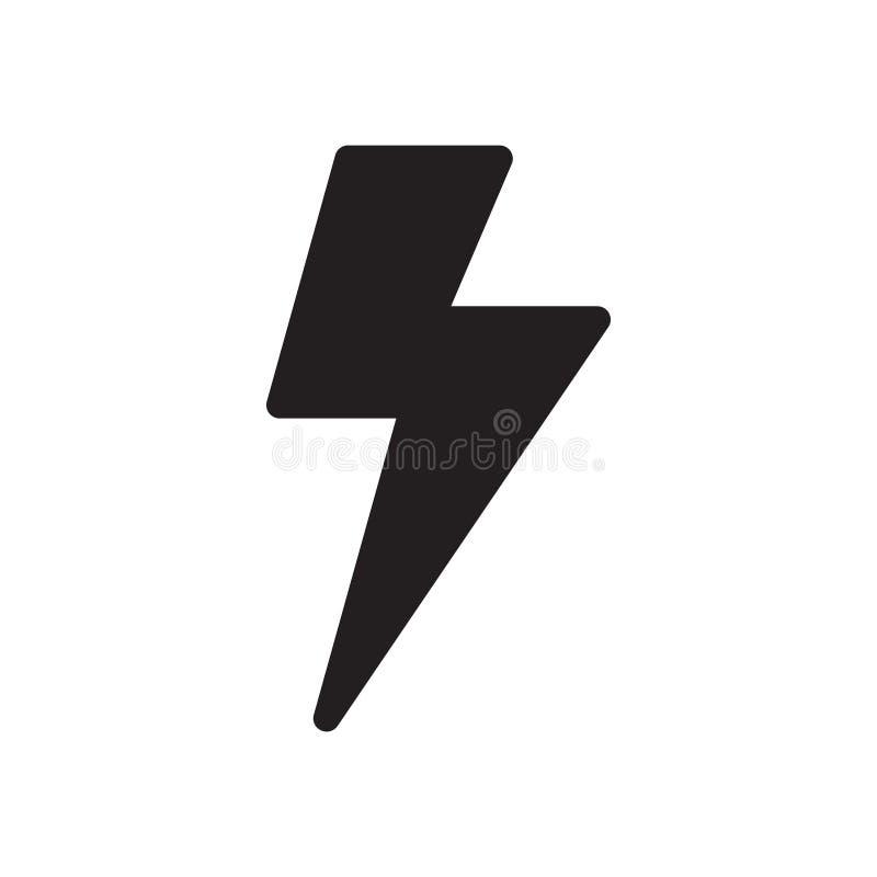 B?yskawicowego rygla ikona Nowo?ytny ikona projekt Nowożytne ikony dla wiszącej ozdoby lub sieci interfejsu ilustracja wektor