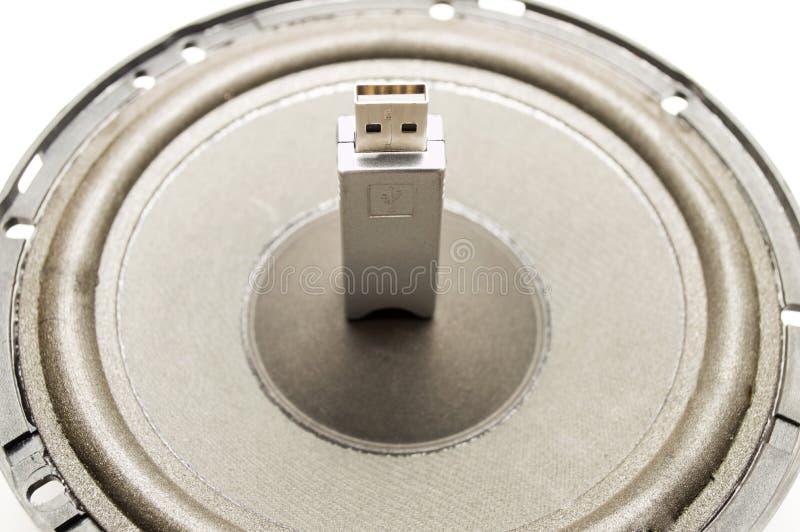 Błyskowy Prowadnikowy Mówca I USB Zdjęcie Stock