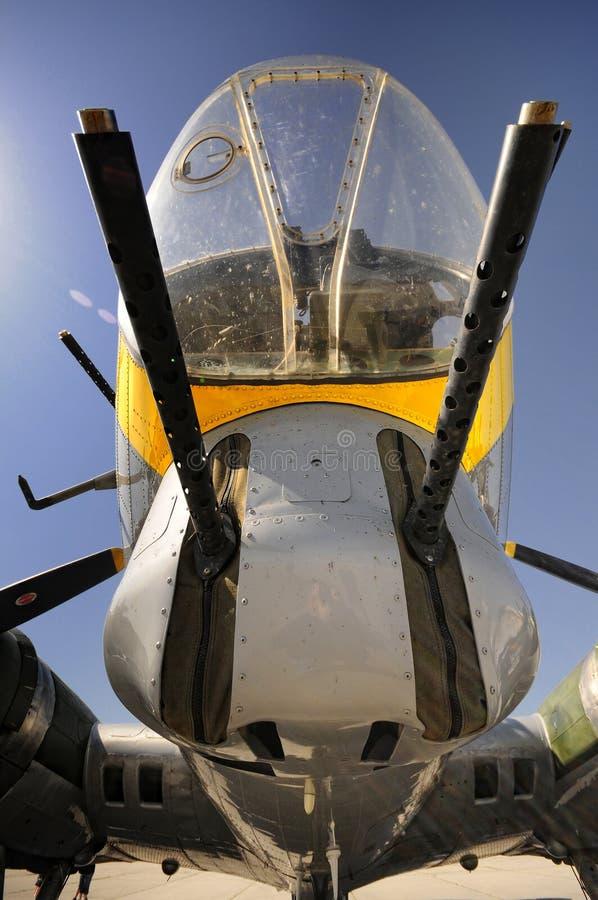 Download B17 nose gunner stock photo. Image of barrels, nose, plane - 22433606