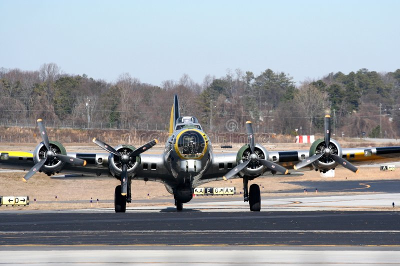 B17 world war 2 bomber royalty free stock photo