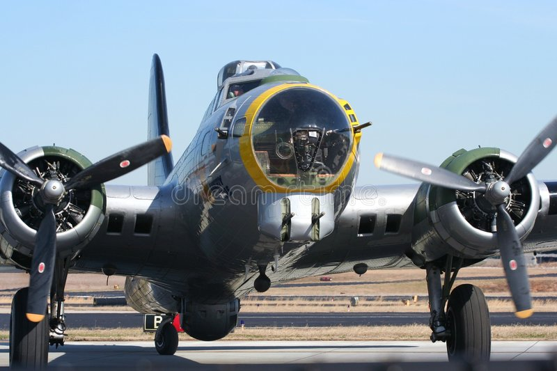 B17 world war 2 bomber stock photography