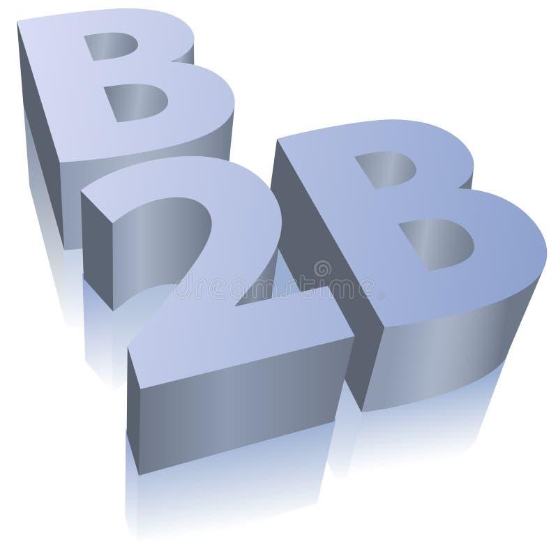 b2b企业商务e符号 皇族释放例证