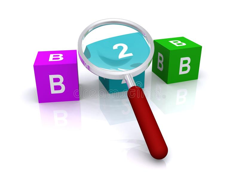 b2b玻璃扩大化 库存例证