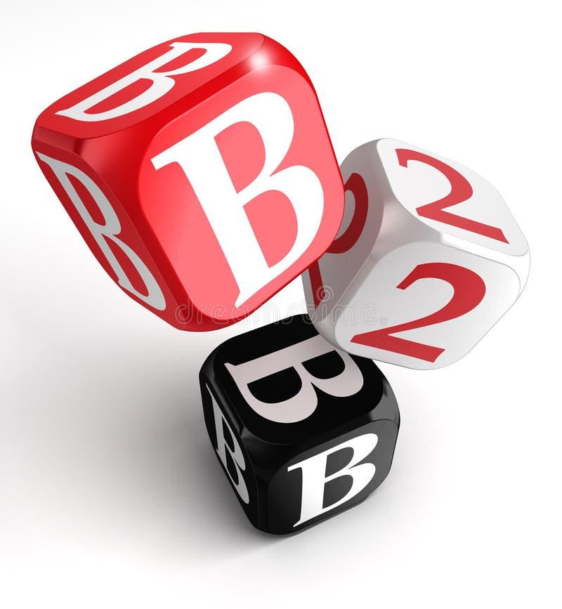 B2b红色空白黑色块 皇族释放例证