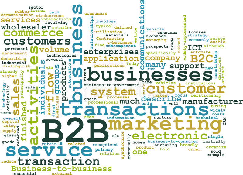 B2B stock illustration