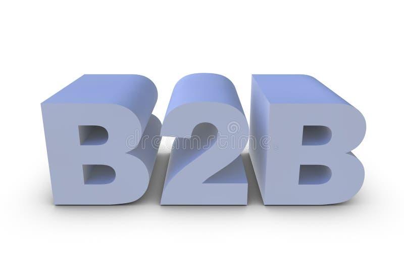 B2B brief stock illustratie
