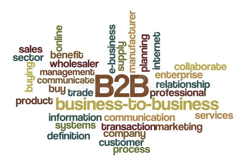 B2B Business-to-business - de Wolk van Word royalty-vrije illustratie