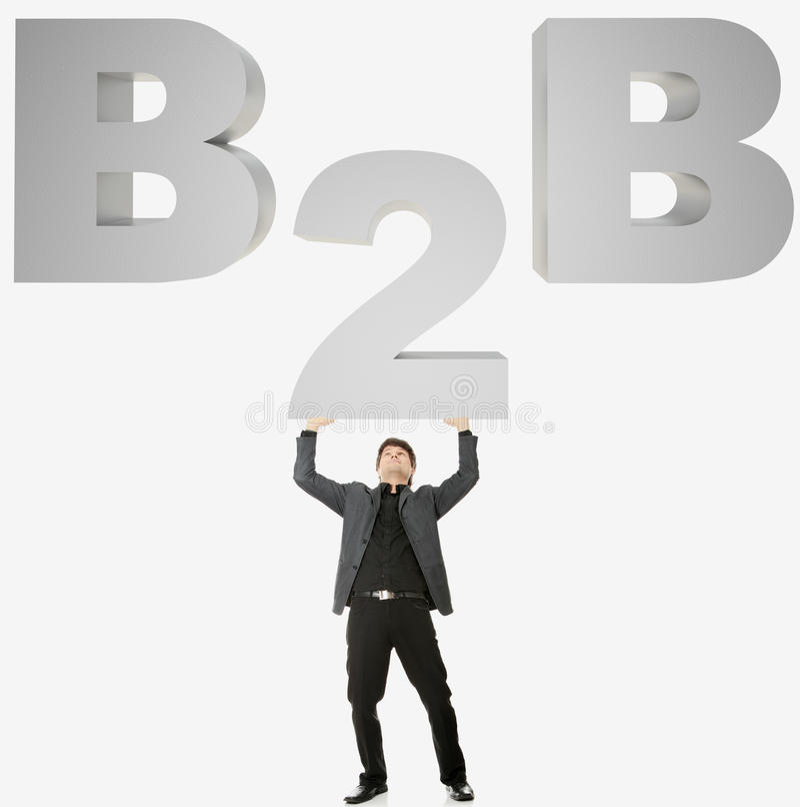 B2B concept royalty free stock image