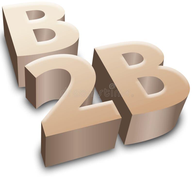 B2B de zaken van het symboole-business vector illustratie