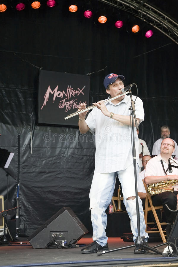 B3 Jazz Orchestra at the Montreux Jazz Festival stock photography