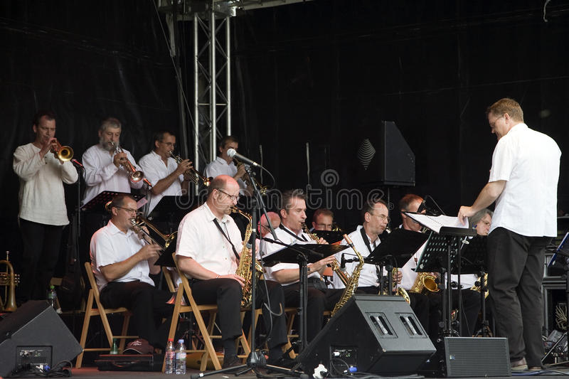 B3 Jazz Orchestra at the Montreux Jazz Festival stock photos