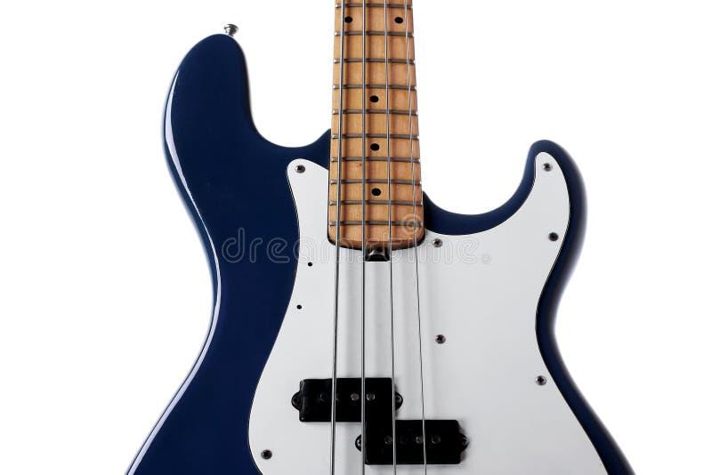 Download Baß-Gitarrenabschluß oben stockfoto. Bild von weiß, verstärker - 9093478
