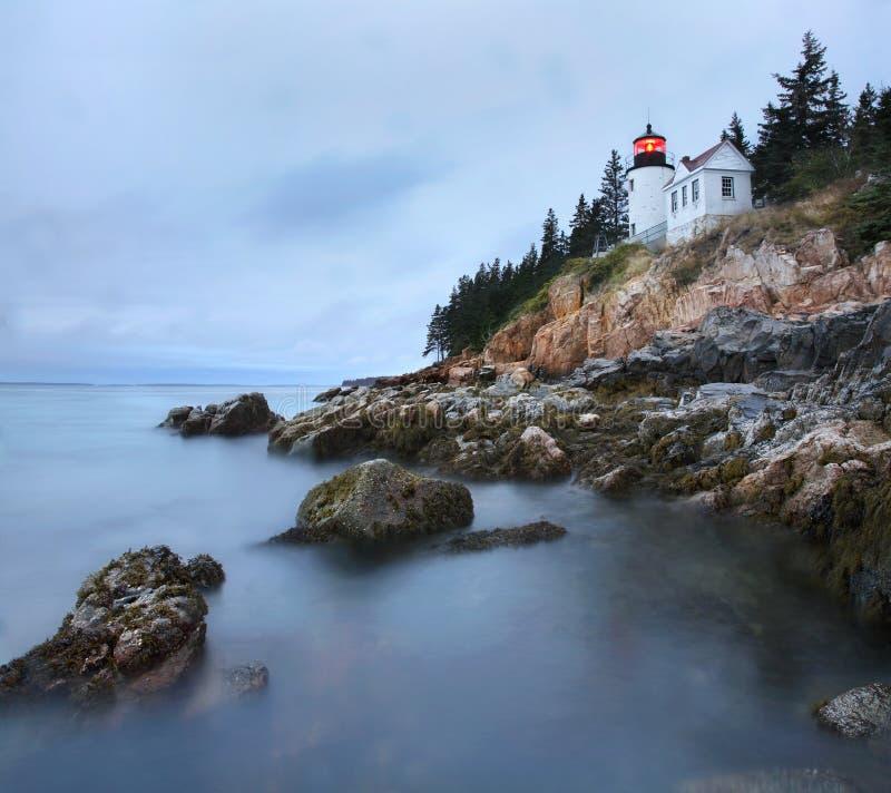 Baß-Hafen-Kopf-Leuchte, Acadia, Maine stockbilder