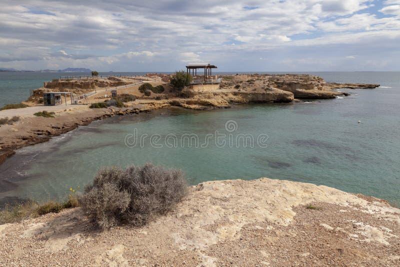 Baños de La Reina på El Campello royaltyfri bild