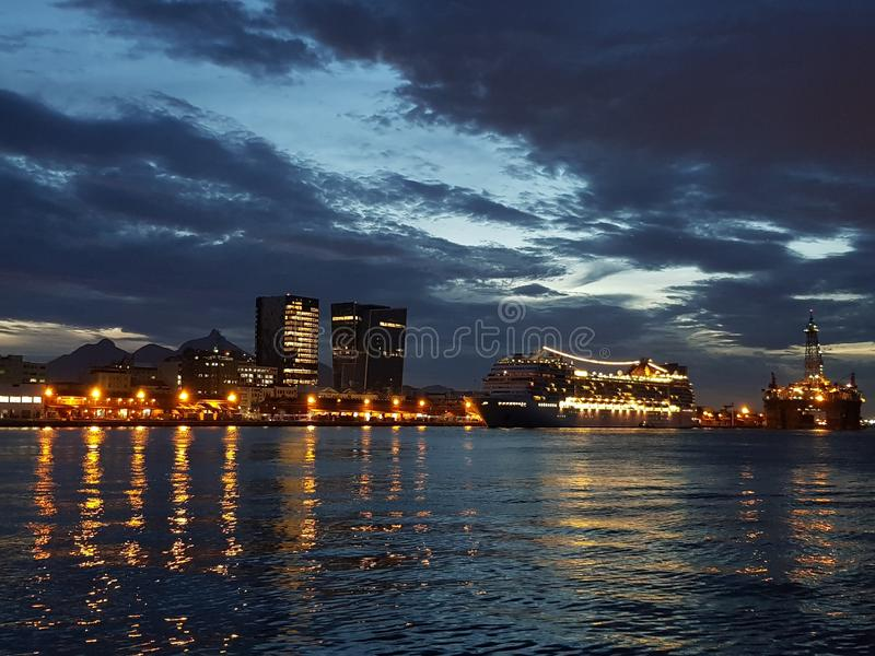 BaÃa DE Guanabara - Rio de Janeiro - Brazilië royalty-vrije stock afbeelding
