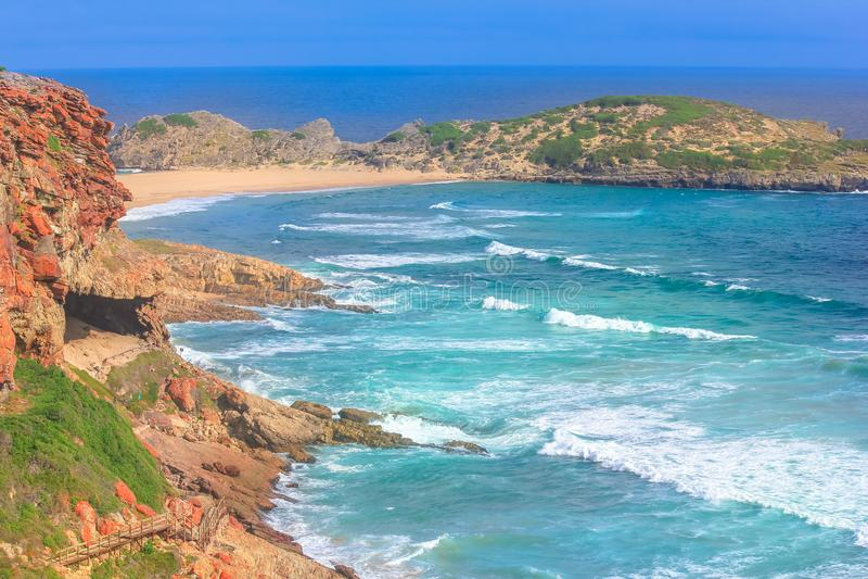 Baía África do Sul de Plettenberg imagem de stock royalty free