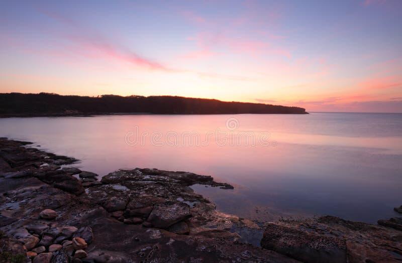 Baía Austrália da Botânica do nascer do sol fotografia de stock royalty free