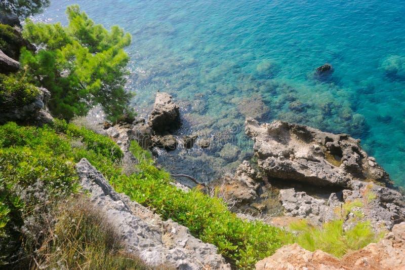 Baía azul foto de stock