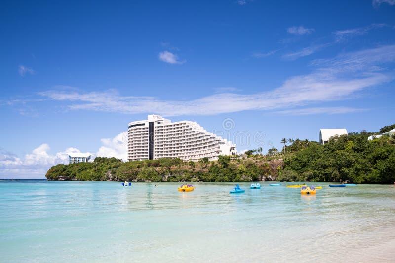 Baía bonita de Tumon em Guam fotos de stock