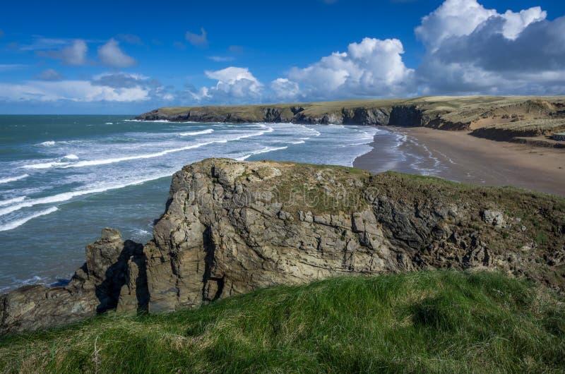 Baía Cornualha Inglaterra Reino Unido de Holywell foto de stock